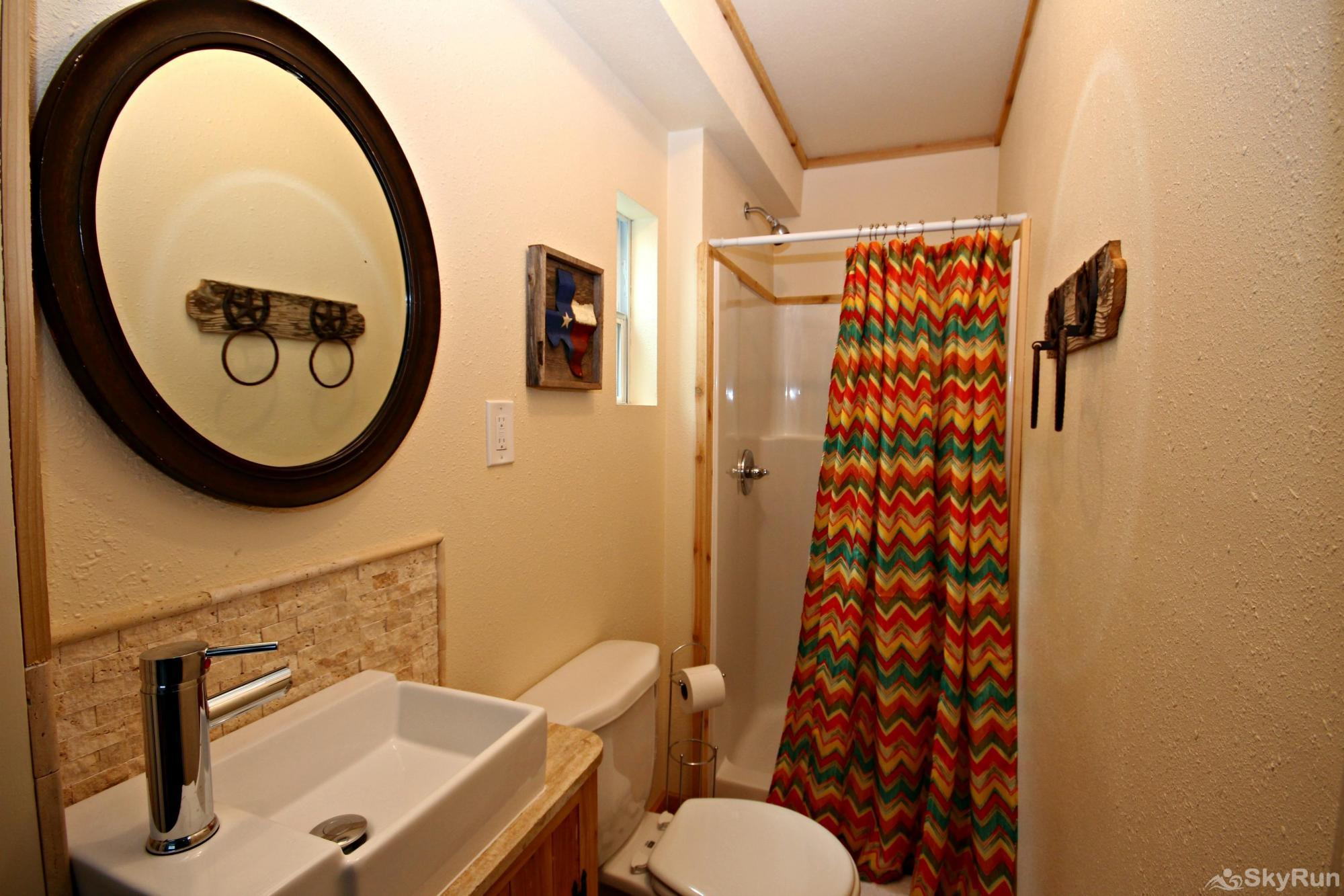 RIO VISTA ON THE GUADALUPE New Second Bath with Walk-in Shower