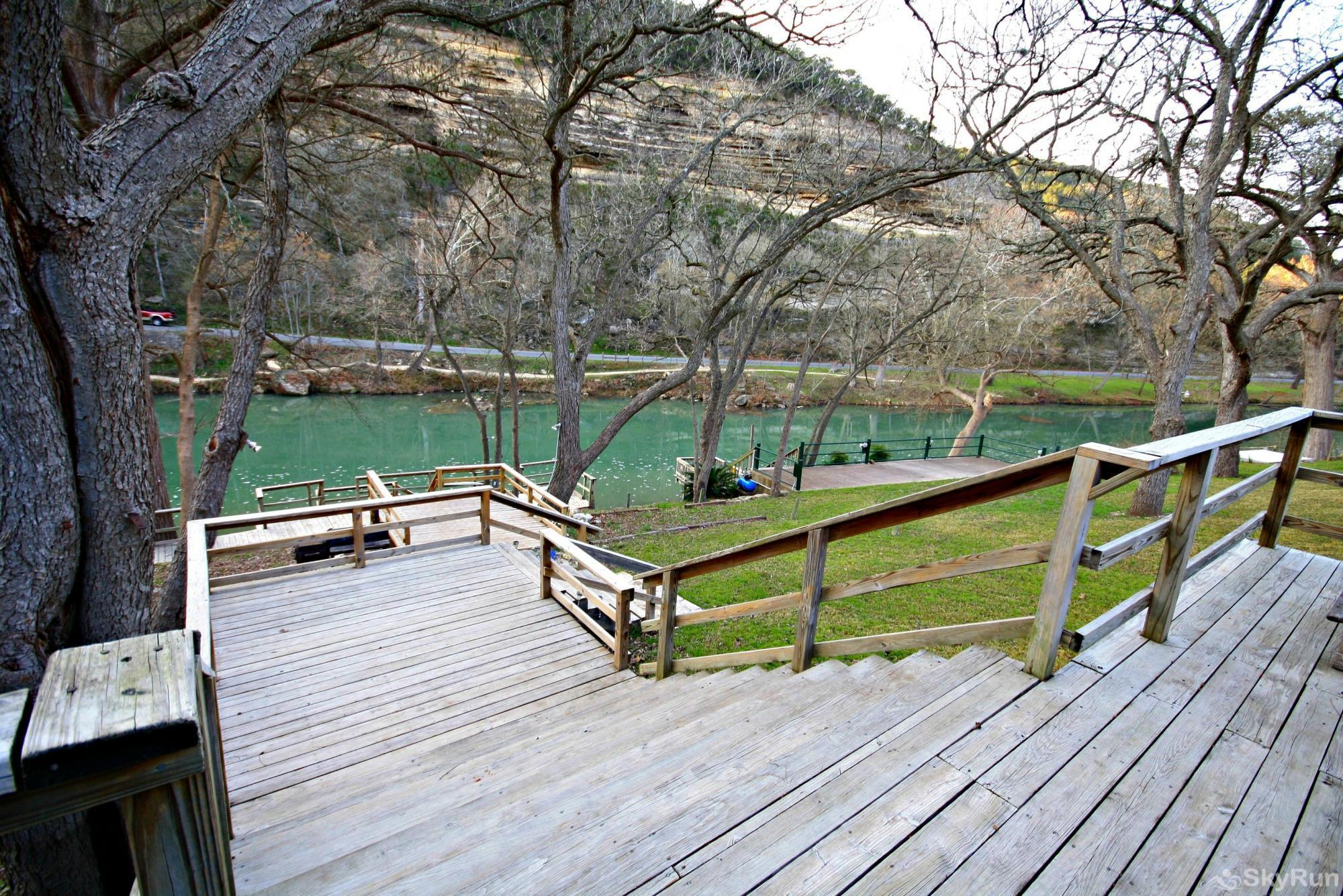 RIO VISTA ON THE GUADALUPE View from Spacious Deck