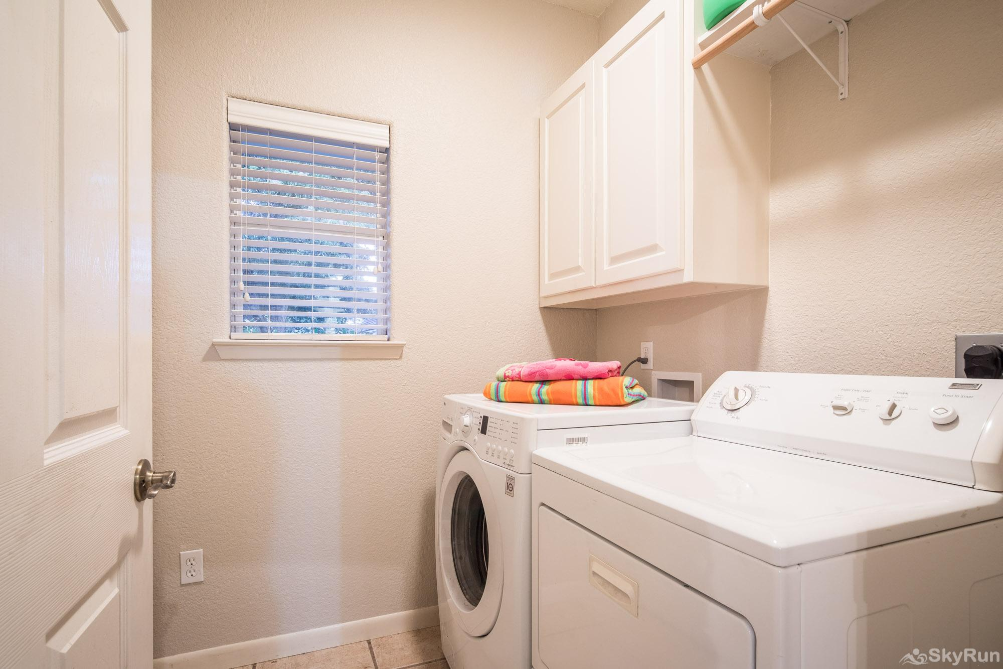 SERENITY SHORES Laundry Room