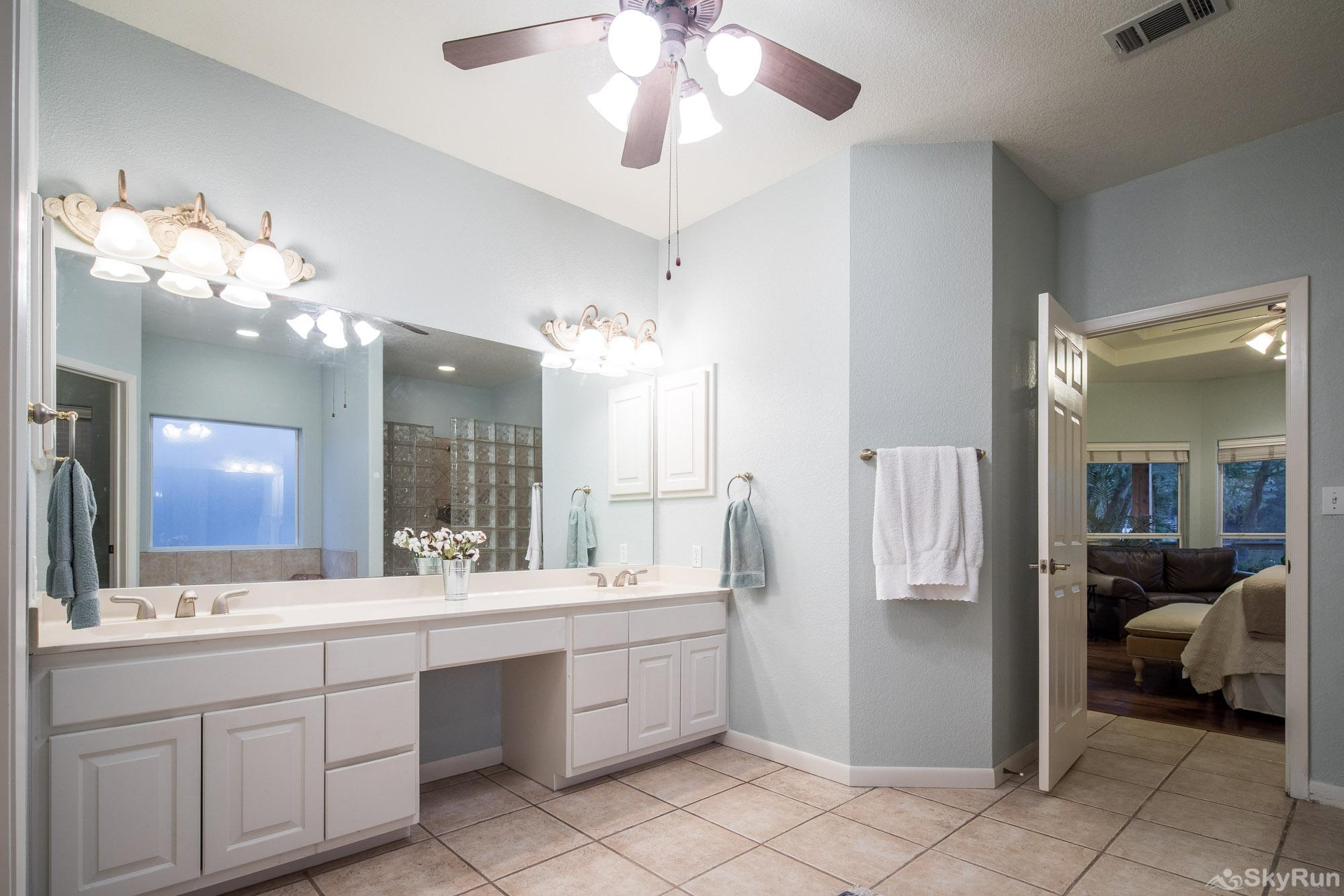 SERENITY SHORES Dual Vanity in Master Bathroom