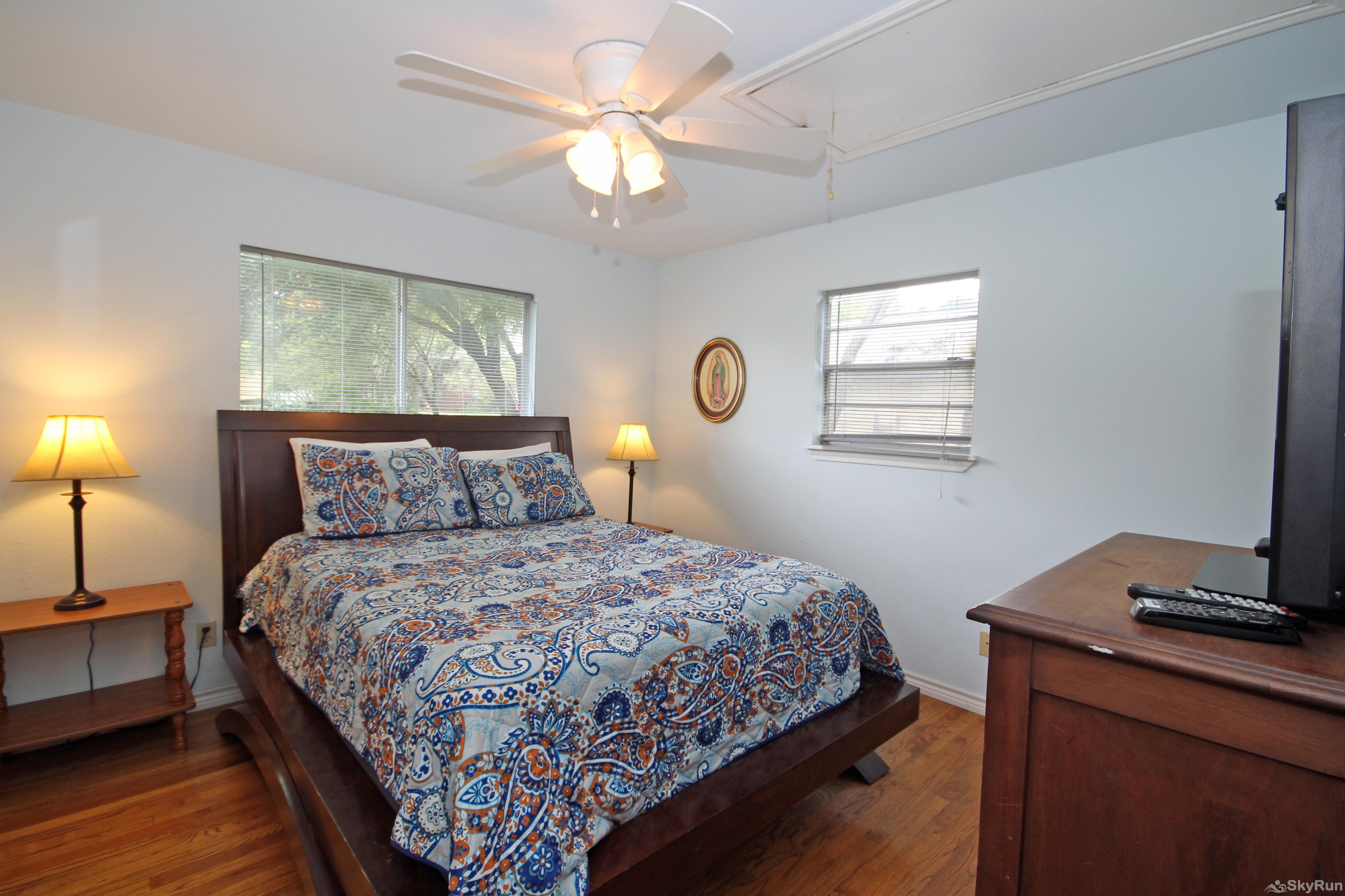 RIO VISTA ON THE GUADALUPE Second Bedroom with Queen and TV