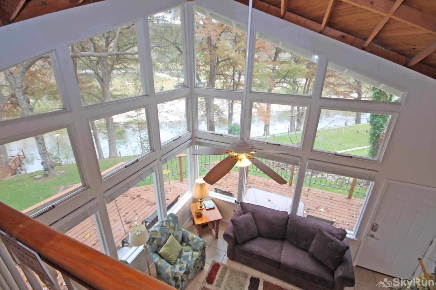 STAR OF TEXAS AND COTTAGE COMBO Beautiful View from Cottage Loft Area