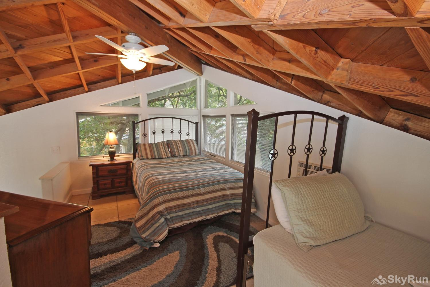 STAR OF TEXAS AND COTTAGE COMBO Loft Sleeping Area