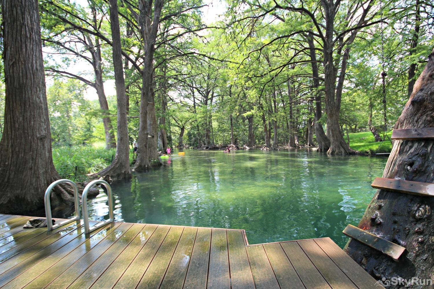 LITTLE ROCK 'N' WOOD Fun Swimming Areas at Blue Hole Park in Wimberley