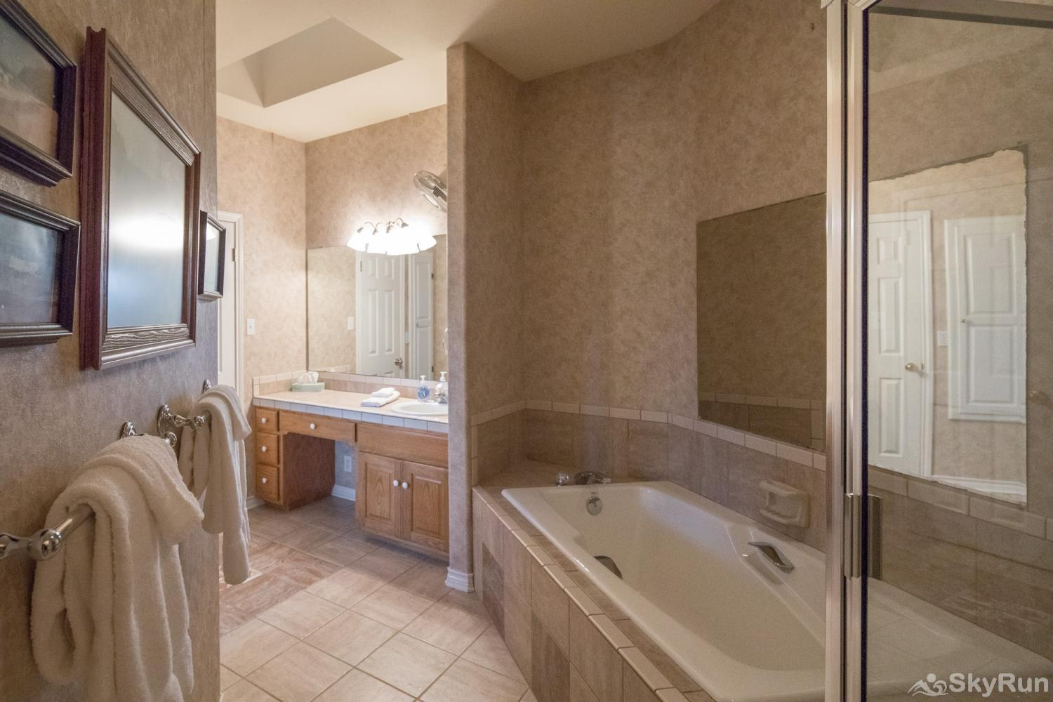 BUCKHAVEN RIDGE Master Bathroom with Large Tub and Separate, Walk-in Shower