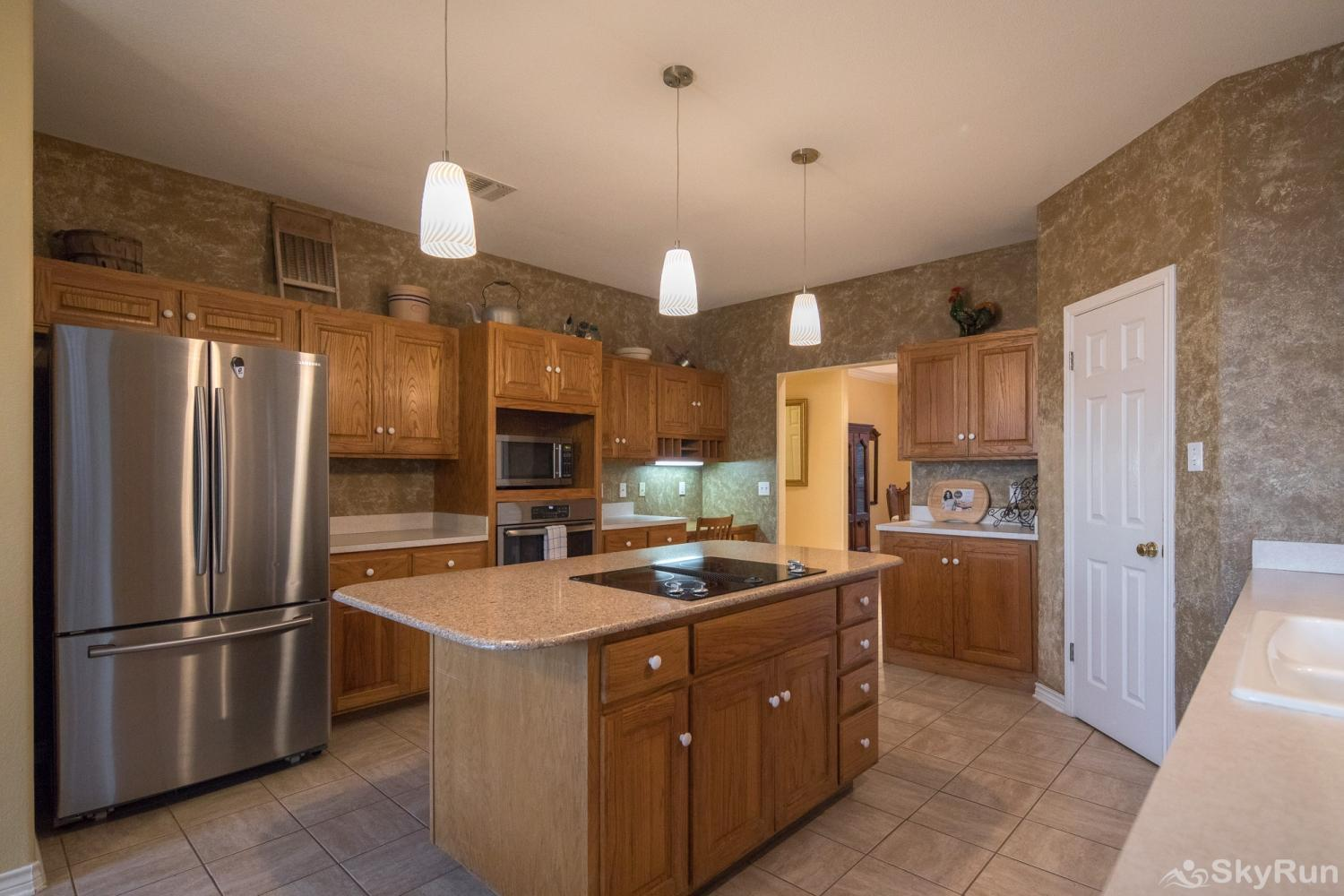 BUCKHAVEN RIDGE Kitchen Equipped with Essential Cookware and Dinnerware