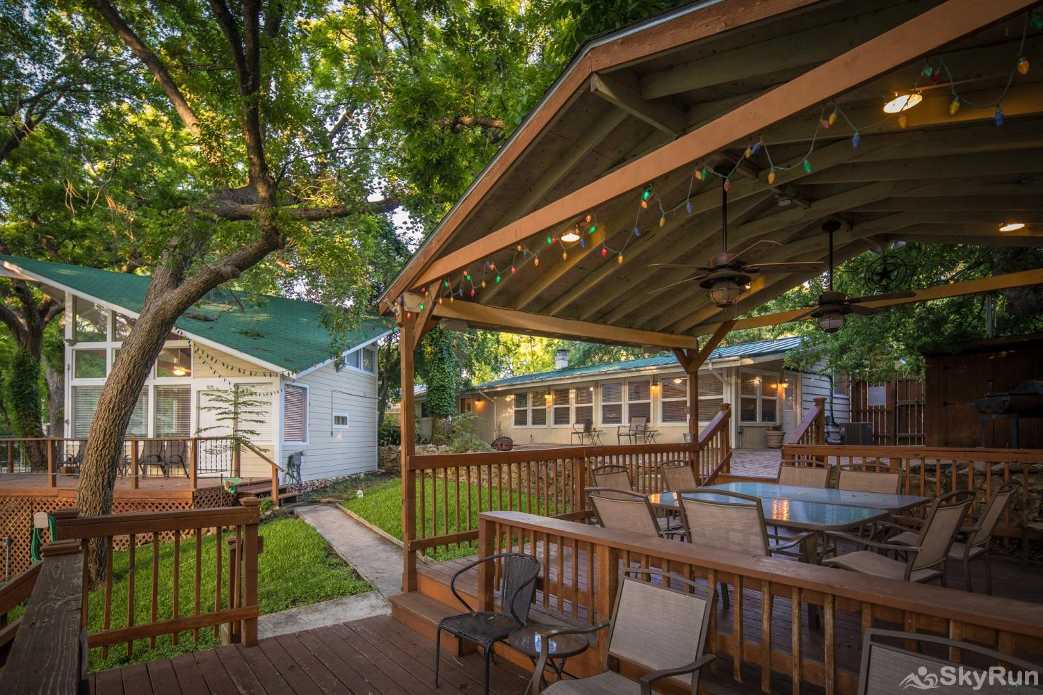 STAR OF TEXAS AND COTTAGE COMBO Shaded gazebo and backyard cottage