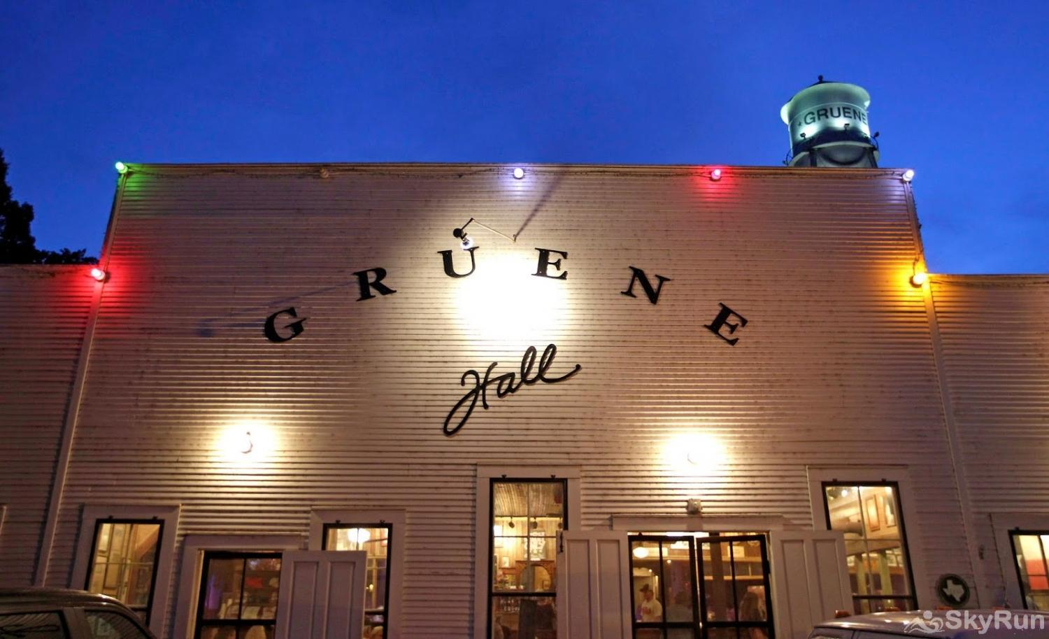 STAR OF TEXAS AND COTTAGE COMBO Gruene Hall, 12 miles away